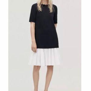 COS Paneled Cotton Sweater Layered Dress